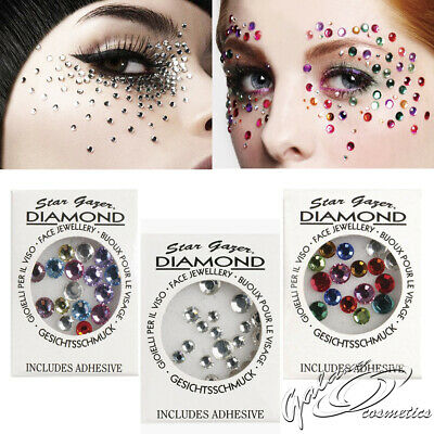 Stargazer Diamonds Loose Face Body Art Decoration Crystals Gems Sequins & Glue