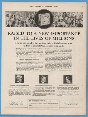 1922 Fleischmann Yeast A Food to Combat Three Common Complaints Print Ad
