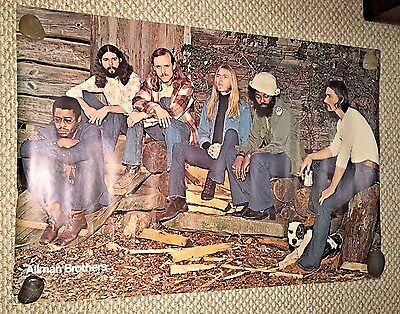 Vintage Large Head Shop Poster ALLMAN BROTHERS BAND  1970's