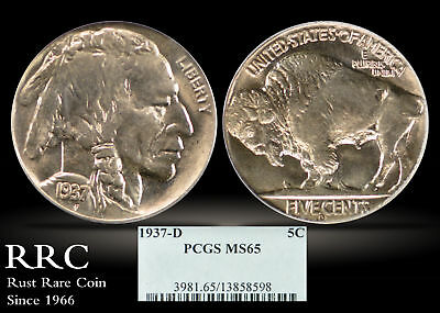1937-D Buffalo Nickel PCGS MS65