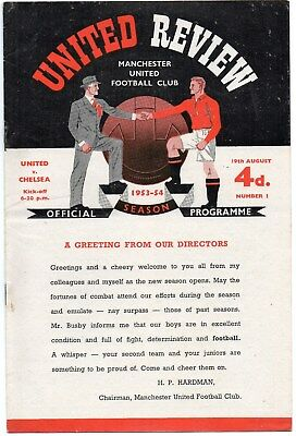 1953/1954 Manchester United Virtually Complete Set Of League Homes Vg Cond.