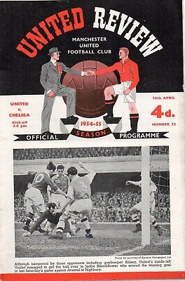 1954/1955 Manchester United Complete Set Of League Homes In Vg Condition