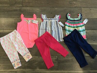 6 piece LOT of baby girl fall clothes size 9 months NWT