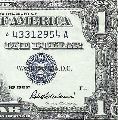 1957 $1 SILVER Certificate! *STAR* CRISP CHOICE XF! Old US Paper Money! 3of3