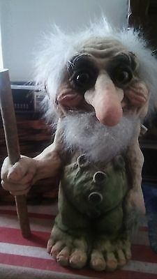 Nyform Norway Troll Man with Walking Stick, Large Figure NEW
