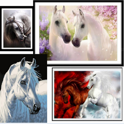 5D DIY Diamond Painting Animal Horse Embroidery Cross Crafts Stitch Decro Home