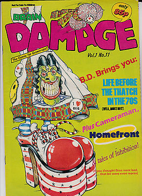 Brain Damage : Comic For Grown-ups! Vol 1 No 11. The 70's - Life Before Thatch