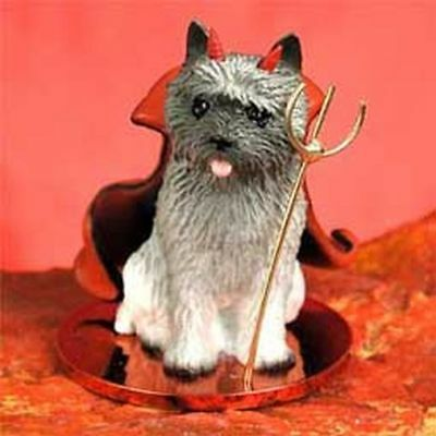 Cairn Terrier Gray Devil Dog Tiny One Figurine Statue