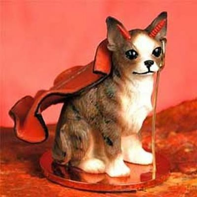 Chihuahua Brindle Devil Dog Tiny One Figurine Statue