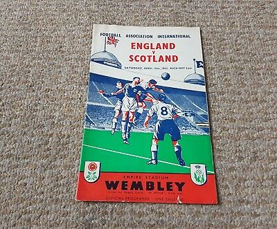 England V Scotland April 1953 Wembley Programme