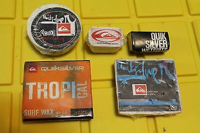 Quiksilver SURF WAX Vintage Rare Surfboard Wax - Lot of 5