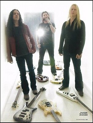 Alice in Chains Jerry Cantrell Mike Inez Sean Kinney guitars 8 x 11 pin-up photo