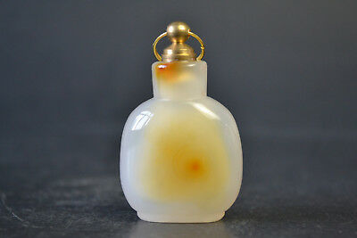 Nice Collectible Old Natural Agate Exquisite Inside Hollow Fine Snuff Bottle