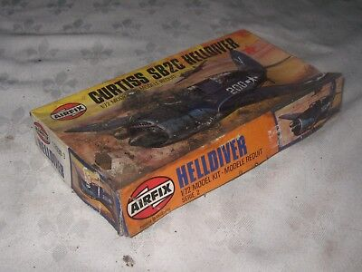A Boxed Vintage 1979 Airfix Curtiss SB2C Helldiver 1:72 Scale Airplane Model Kit