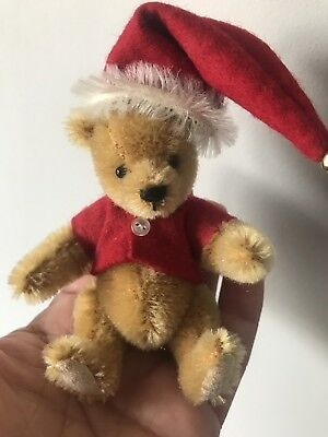 "Artist Miniature Mohair Pooh Bear 4"" Stacy Pio Cute Buy Now No Res"