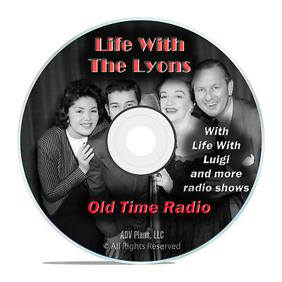 Life with the Lyons, + Luigi, 924 Old Time Radio Shows, Sitcom, Comedy DVD G65