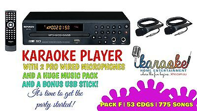 Mp600 Karaoke Party Pack, Mics, 775 Songs! Exclusive Offer! Aust 2 Yr Warranty
