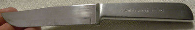 Vintage Harry Rambow, Farmers Mutual Insurance Large Advertising Silver KNIFE