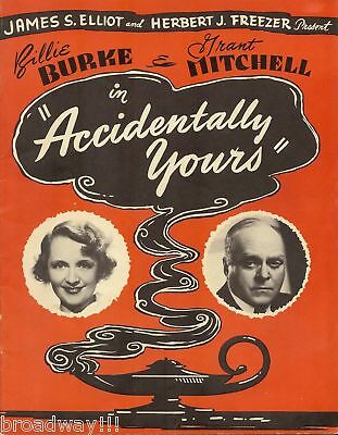 "Barbara Billingsley ""ACCIDENTALLY YOURS"" Billie Burke 1947 FLOP Souvenir Program"