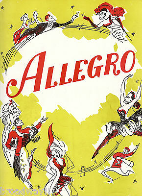 "Rodgers & Hammerstein ""ALLEGRO"" Agnes De Mille 1947 Broadway Souvenir Program"