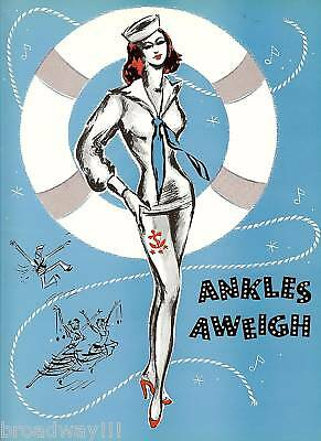 "Betty & Jane Kean ""ANKLES AWEIGH"" Gabriel Dell (Signed) 1955 Tryout Program"