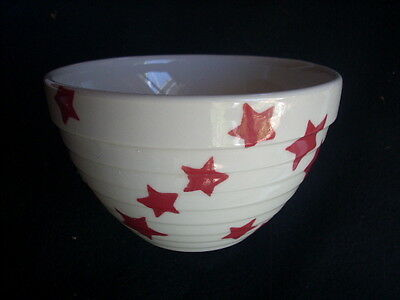 Robert Gordon White Ribbed Mixing Bowl With Star Decoration