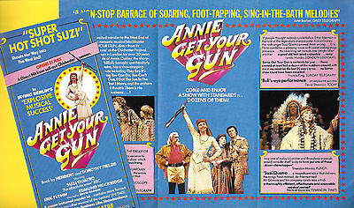 "Suzi Quatro ""ANNIE GET YOUR GUN"" Eric Flynn / Irving Berlin 1986 London Flyer"