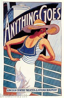 "Patti LuPone ""ANYTHING GOES"" Cole Porter / Howard McGillin 1987 Souvenir Program"