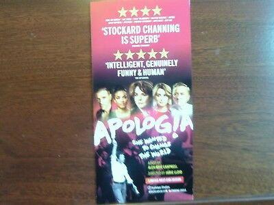 STOCKARD CHANNING APOLOGIA Theatre Flyer  NEW 2017 Larger version of flyer