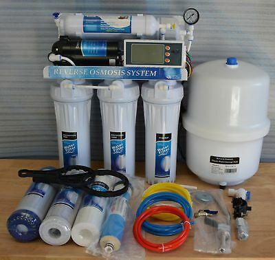 6 Stage Reverse Osmosis 100GPD + DI Unit Micro Computer Controlled+TDS