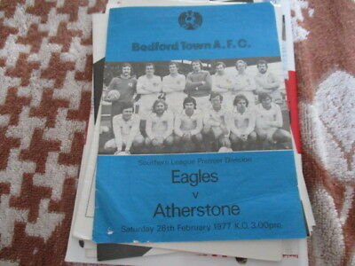 Bedford  Town  V  Atherstone  1976-7