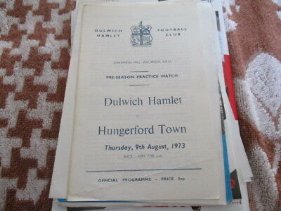 Dulwich  Hamlet  V  Hungerford  Town  1973  Practice  Match