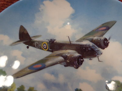 """DOULTON/BRADEX 8"""" BLENHEIM ABOVE AIRFIELD LIMITED EDITION Plate 134B FREE UKPOST"""