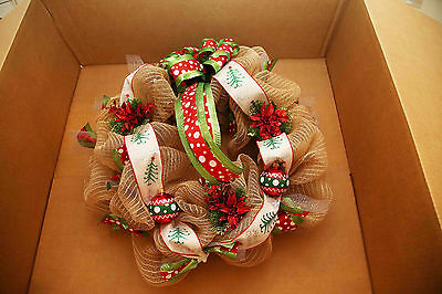 After Christmas Special - Angela's Wreaths & More Burlap Ornament Xmas Wreath 87