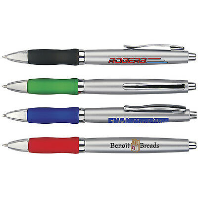 Custom Imprint Click Grip Pens Tradeshow Giveaway Marketing Handout Business