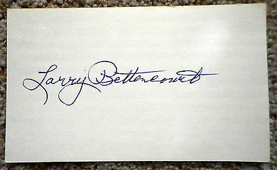 Larry Bettencourt signed card - Packers - dec. 1978
