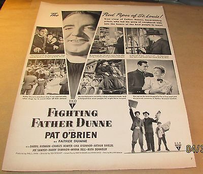 Movie Ad---FIGHTING FATHER DUNNE---<1948>---PAT O'BRIEN