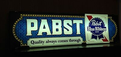 Vintage Pabst Blue Ribbon Sign Lighted Beer Bar Decor Brewing/Ale Memorabilia