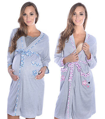 Mija - Maternity & nursing breastfeeding nice Dressing Gown 2067