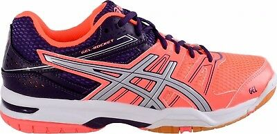Womens Girls asics Gel Rocket 7 Trainers Shoes Size UK 4 Indoor court Volleyball