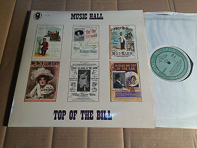 V/A - MUSIC HALL - TOP OF THE BILL - 2 LP - Aufnahmen von 1899 - 1917