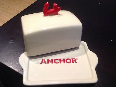 Vintage Collectable Anchor Butter Dish Retro Very Good Condition