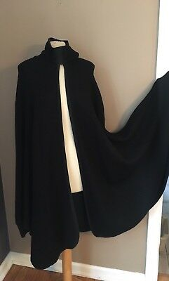 Amazing Vintage 60s/70s Draped Extreme Batwing Sleeve Cape S M L Wool Blend Coat