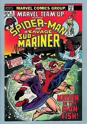 Marvel Team-Up # 14 Vfn (8.0) Spider-Man + Sub-Mariner- Glossy High Grade- Cents