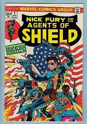 Nick Fury And His Agents Of Shield # 2 Vfn+ (8.5)  Steranko Cover - 1973 - Cents