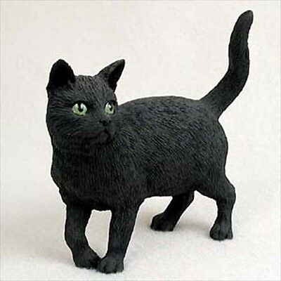 Black Cat Standing Hand Painted Canine Collectable Figurine Statue