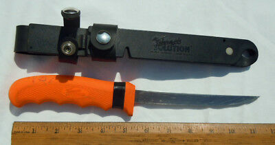 CUTCO Orange Handle Fishermans Solution Fish Fillet Knife #5720 Extendable Blade