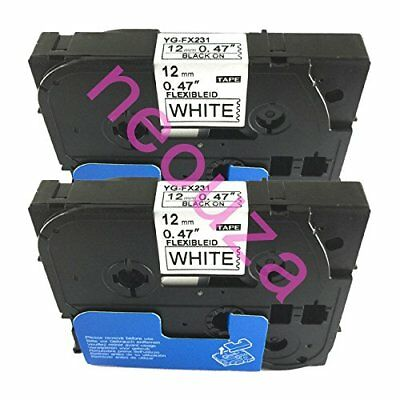NEOUZA 2PK Compatible For Brother P-Touch Laminated TZe TZ Label Tape Cartridge