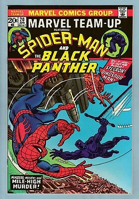 Marvel Team-Up # 20 Vfn+ (8.5) Spider-Man_Black Panther_Glossy High Grade_Cents