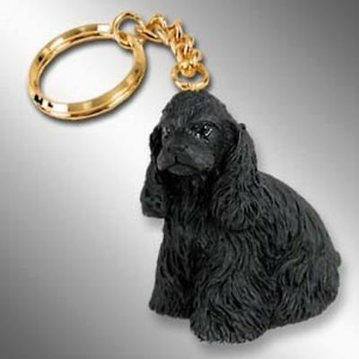 Cocker Spaniel, Black Dog Tiny One Resin Keychain Key Chain Ring